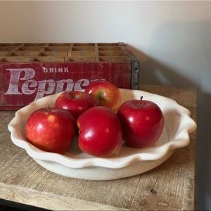 Vintage Ceramic Pie Plate | Rustic Farmhouse